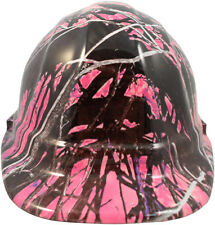 HydroDipped MSA SMALL Cap Style Hard Hat with Ratchet - Muddy Girl Pink - LTD
