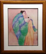 "RC Gorman poster ""La Donna and Child"" Hand Signed Offset Lithograph custom frame"