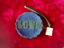 Lucky Brand Blue Leather Love Wristlet NWT