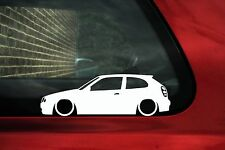 2x LOW 'Toyota Corolla G6 E11 hatch 3-dr lowered outline silhouette stickers