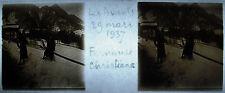 Photographie Les Avants sous la neige Montreux Suisse 29 mars 1937
