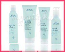 AVEDA SMOOTH INFUSION SHAMPOO + CONDITIONER + STYLE PREP + GLOSSING STRAIGHTENER