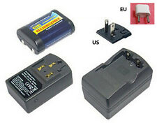 Quality Rechargeable 2CR5 2CR DL245 EL2CR5 battery + Charger 6V 500mah lithiu m