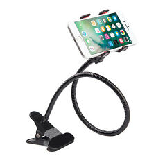 Universal 2in1 Car Desktop+Long Arm Holder Steel Clip Mount for Cell Smart Phone