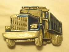 vintage Great American Buckle Co. belt buckle 237 1982 semi truck construction