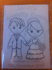 Childrens wedding activity book 20 pages under 5 years