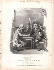 Auld Lang Syne 1848 BURNS & NELSON Lithograph Sheet Music !