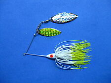 3/8 oz Spinner Bait WHIT/CHART TIP bass musky pike jig tackle lure lot T38Wpr213