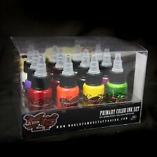 World Famous Tattoo Ink Set -Primary Set #1 - 12 bottles / 1oz  - FREE SHIPPING