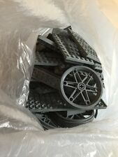 Job Lot Of Grey Lego Pieces, Wheels And Platforms