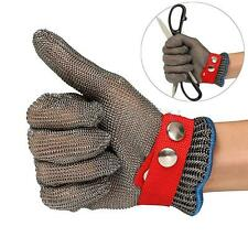 Stainless Steel Safety Cut Proof Stab Resistant Metal Mesh Butcher Glove Gray