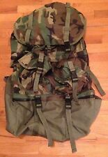US Military Mounted Crewman Compartmented Equipment Bag Woodland Camo Pack EUC!