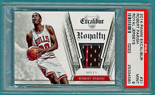 2014 Panini Excalibur Robert Parish Game Used Jersey - #31 PSA 9! Bulls! POP 1!