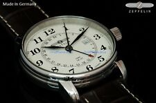 New Graf Zeppelin Swiss Made Ronda 505.24 GMT Dual Time Watch 7642-5 German Made