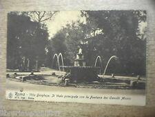 Carte Postale ROMA VILLA BORGHESE IL VIALE LA FONTANA CAVALLI MARINI 1908