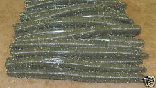 """6"""" Stick Senko Style Green Pumpkin 50 pack Bulk Bass Plastic Worm"""