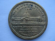THE EXHIBITION BUILDING OPENED MAY 1ST 1862 SOUVENIR GILT MEDAL