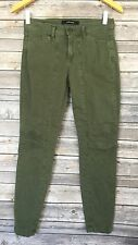 J Brand Pants 7A012 Womens 25 Mid-rise Utility Jungle Green Ginger Crop W27xL26