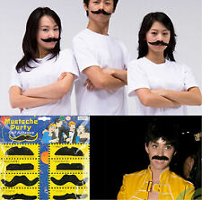 12pcs Fake Black Facial Moustache Fashion Cool Costume Funny Party Multi-shape