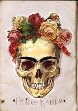 FRIDA KAHLO - Skull Art Image A4 Poster Gloss Print Laminated