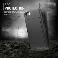 For Man&Husband Case iPhone 6 6S Armor Wallet Kick-Stand Cover Matte Case-CA
