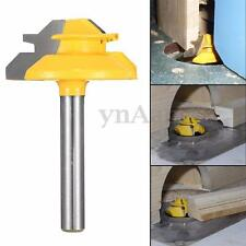 "1x 45°- 1/4'' Shank - 1/2"" Stock Small Lock Miter Router Bit For Woodworking New"