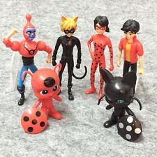 6pcs/set Miraculous Ladybug PVC Action Figure Adrien Noir Cat Doll Kids Toy Gift