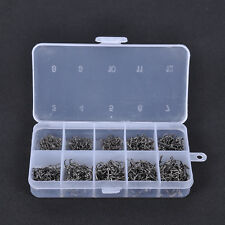 Carbon Steel 600pcs Fish Jig Hooks with Tackle Box Fishing Tool 3# -12# 10 Sizes