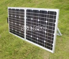 NEW! Portable 150W 12V FOLDING SOLAR PANEL KIT ready for camper caravan boat car