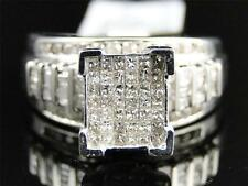 1 Ct XL White Gold Finish Princess Cut Diamond Bridal Engagement Wedding Ring