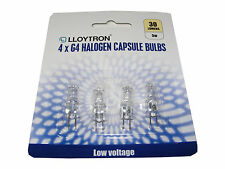 PACK OF 4 CLEAR HALOGEN 5W G4 CAPSULE BULBS LAMPS G4 12V AC 5W (5 WATTS)