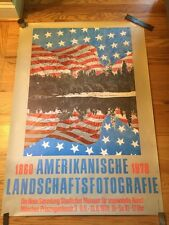 1978 German Staatliches Museum American Landscape PHOTO Exhibition POSTER
