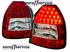 NUOVO COPPIA FANALI FARI POSTERIORI LDHO02 HONDA CIVIC 95-01 3D RED WHITE LED