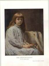 1930 Sir J E Millais The Convalescent Art Print