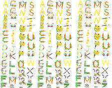 3 Large Sheets EASTER ABC Alphabet Letter Scrapbook Stickers