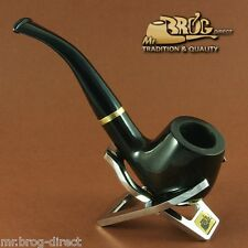 "Hand made Mr.Brog original smoking pipe nr. 82 Black "" CONSUL "" briar *RARE*"