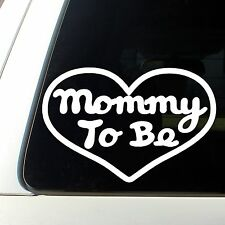 Mommy To Be Heart Decal Sticker Pregnant Wife baby its a girl boy expecting mom