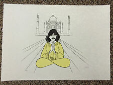 Al Hirschfeld Hand Signed THE BEATLES George Harrison Lithograph John Lennon COA