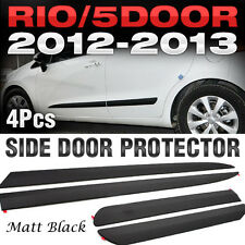 Side Door Protector Garnish Molding Matt Black 4P for KIA 2012-17 Rio Hatchback