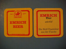 Beer Coaster    Privatebrauerei EMRICH Naturtrub Bier ~ Kusel, GERMANY Seit 1877