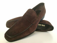 Prada  Luxus Wildleder Schuhe Braun 44, Prada  Leather Shoes Brown  10