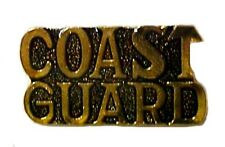 US Coast Guard Lapel Cap Pin Tac USCG Support Military Troops Gold Plated New