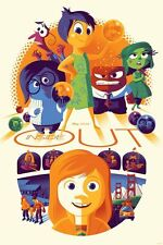 Tom Whalen INSIDE OUT Print Poster Disney Pixar Cyclops Mondo Artist 33/330!!