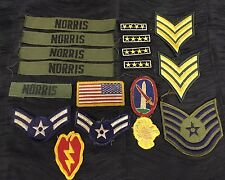 Lot of Vintage US Military Army Navy Air Force Patches Mixed Lot Rare
