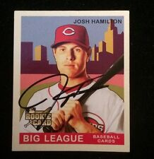 JOSH HAMILTON 2007 UPPER DECK MINI ROOKIE RC Autographed Signed AUTO Card 162 RE
