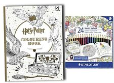 Harry Potter Colouring Book with pack of 24 STAEDTLER Colouring Pencils