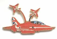 RAF Royal Air Force Red Arrows Three Aircraft Pin Badge *Official Product