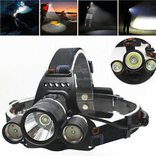 8000LM 3x T6 LED Rechargeable Headlight Lintenra Frontal Headlamp UK