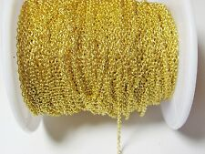 2m feine Gliederkette goldfarbe 2x1,5mm Messing