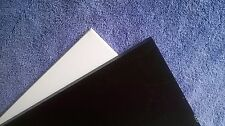 "1/2"" Thick Black Starboard 12"" x 27"" - HDPE Plastic - Marine use"